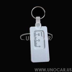 15100089 plastic depth gauge keyring,plastic tyre tread keyring,tire depth tread tool